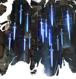sword falling